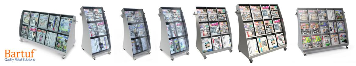 Bartuf Slimline Outside Newspaper Displays