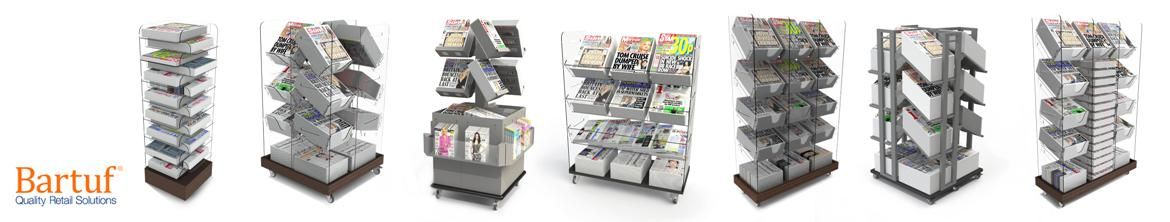 Bartuf Freestanding Newspaper Displays
