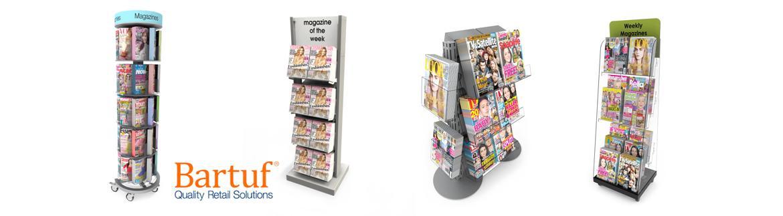 Bartuf Freestanding Magazine Displays