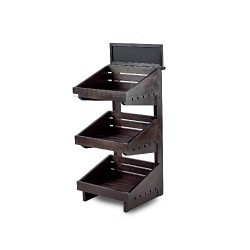 Dark 3 tier wooden counter top stand