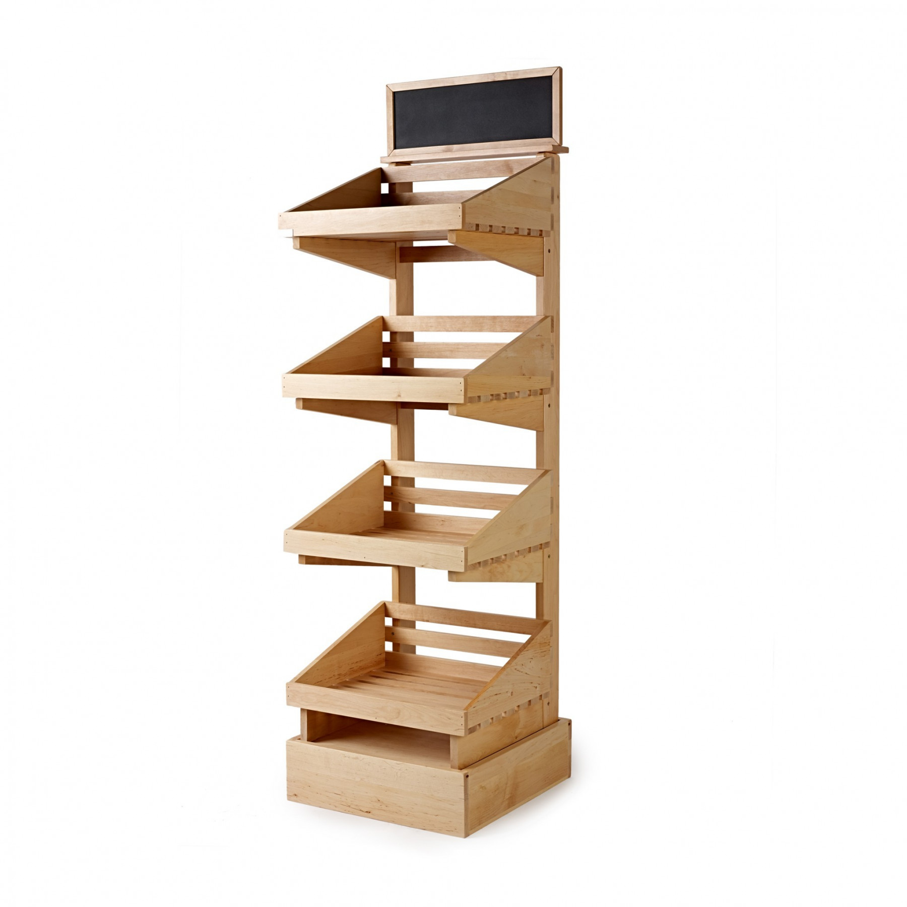 4 tier wooden display stand