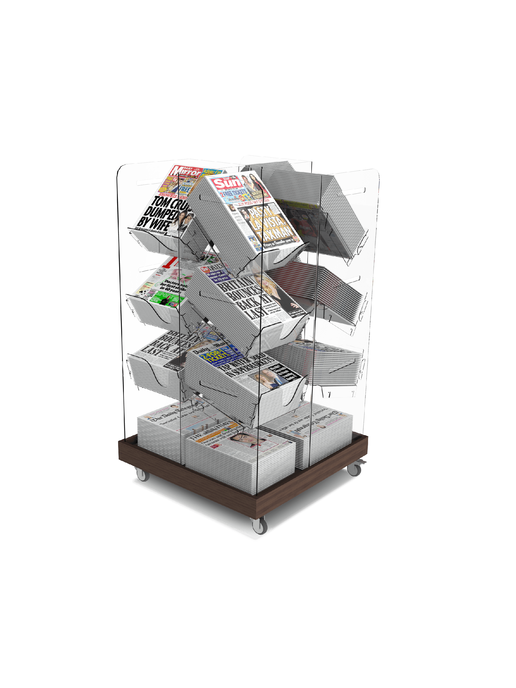 Bartuf Compact Cube Newspaper Stand