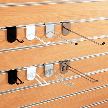Slatwall Chrome Hooks   Prongs