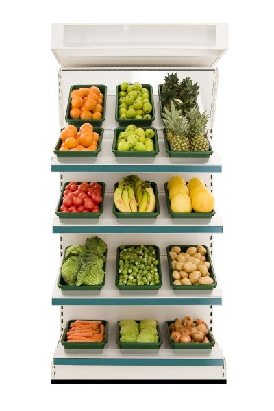 Modular Shelving - Fruit and Vegetable Wall Shelving