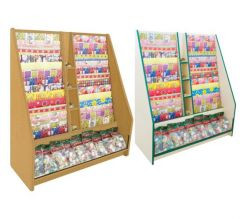 Gift Wrap Ladder Display Unit