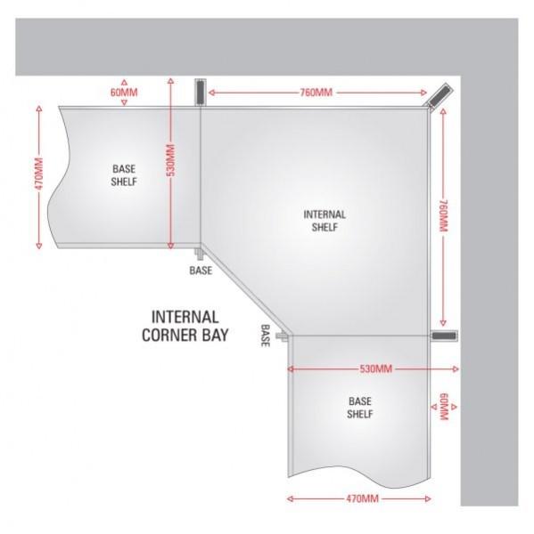 Internal Corner Shelves