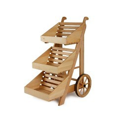 Large 3 tier Wooden Display Cart
