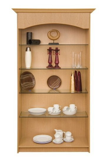 Loxley Open Front Display Unit with 4 Glass Shelves
