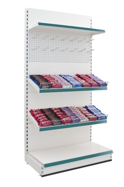 Modular Shelving - Stationery / Confectionery Wall Display