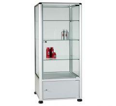 UB25 - 3/4 Display Tower Showcase with Storage