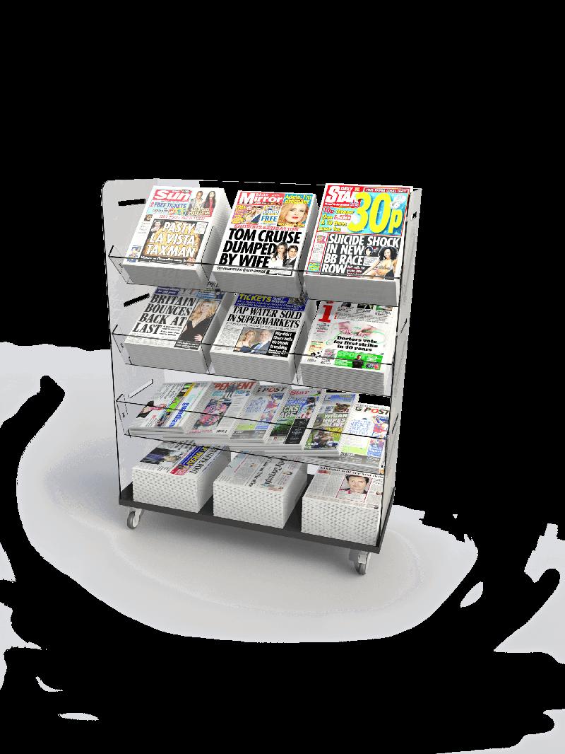 Bartuf Flexible Triple Tower Newspaper Display