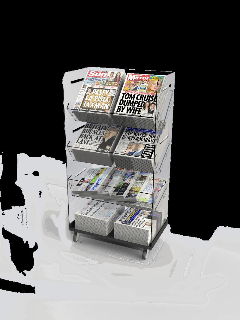 Bartuf Flexible Twin Tower Newspaper Display