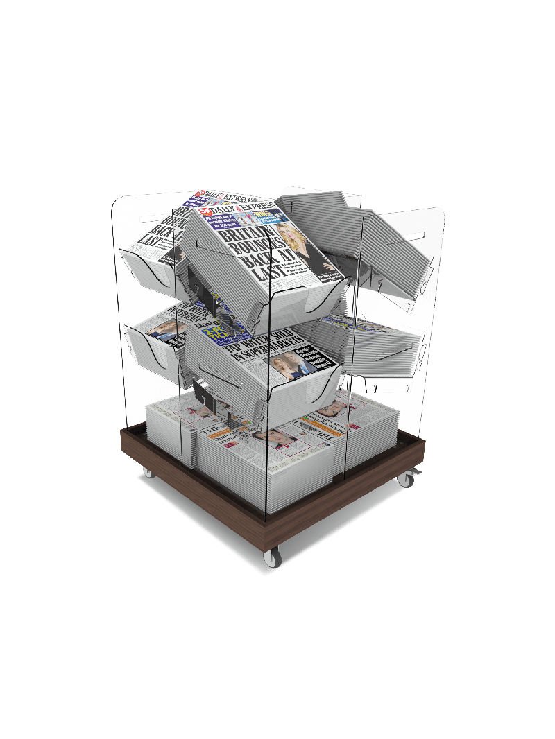 Bartuf Midi Compact Cube Newspaper Display