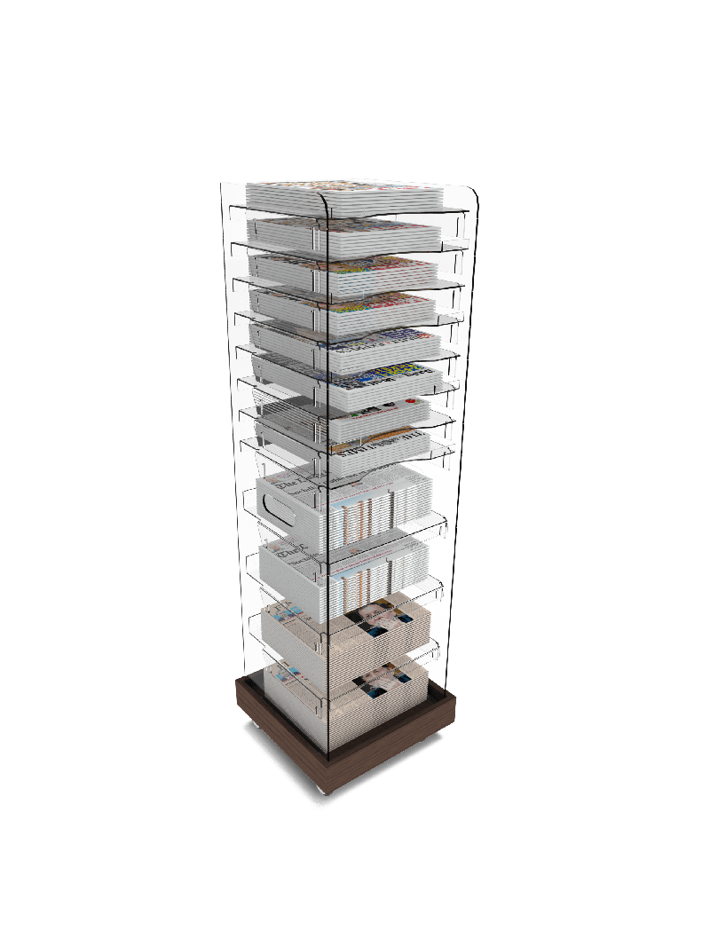 Bartuf Multi Volume Tower Newspaper Display
