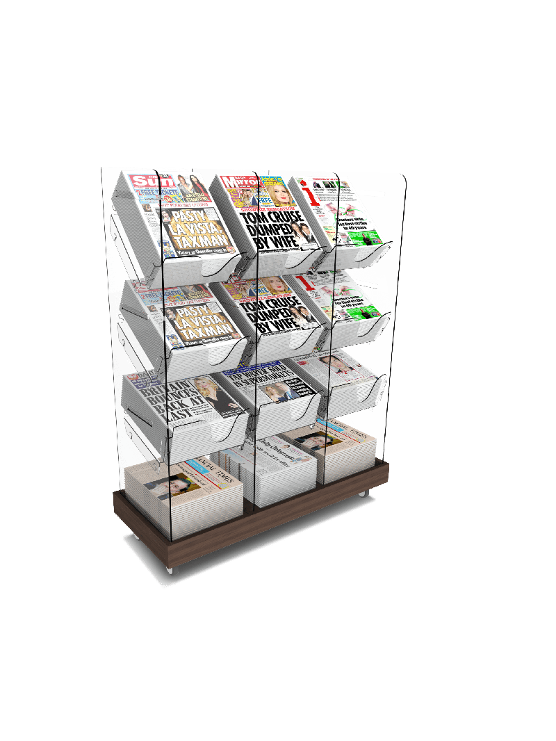 Bartuf Triple Tower Newspaper Display