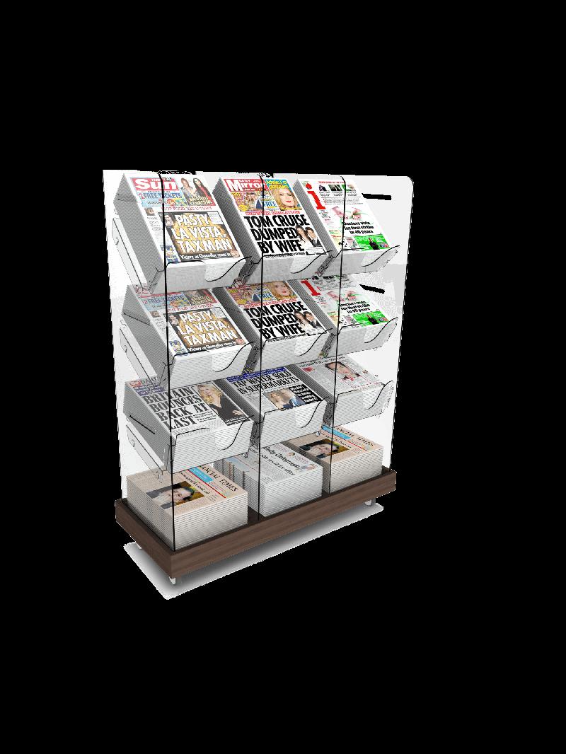 Bartuf Triple Tower Newspaper Display