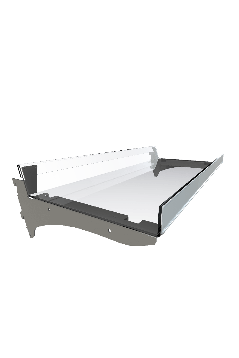 Bartuf 300mm flangle confectionery shelf
