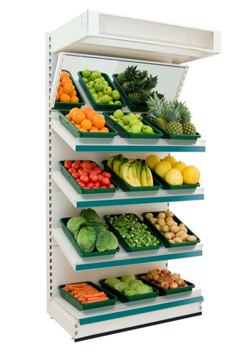 Modular Shelving - Fruit and Vegetable Wall Shelving