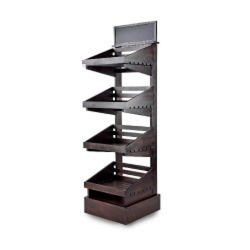 Dark 4 tier wooden display stand