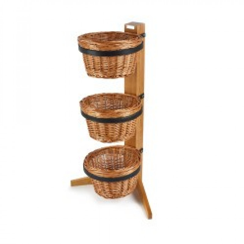 3 Tier Display Stand with Round Baskets