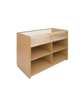Loxley 1/3 Glass Front Counter with Glass