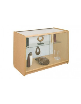Loxley Glass Front Glass Top Full Vision Display Counter