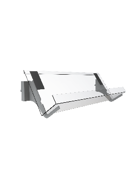 Bartuf  1 tier 160mm vertical news shelf