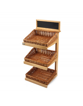 3 tier counter top stand with baskets