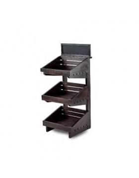 Dark 3 tier wooden counter top stand