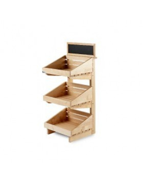 3 Tier Counter Top Wooden Display Stand