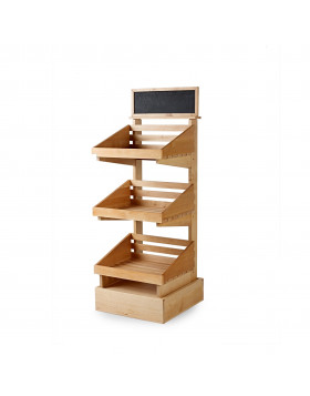 3 tier wooden display stand