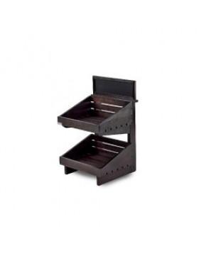 Dark 2 tier wooden counter top stand