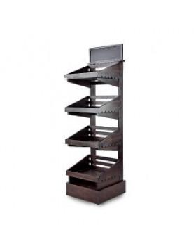 Dark 4 tier wooden display stand
