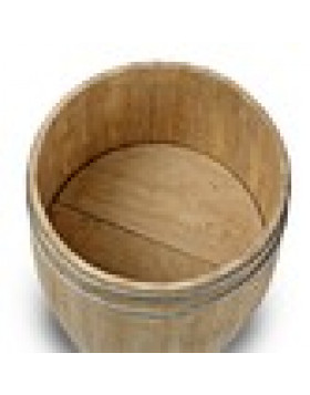 Large Wooden Display Barrel
