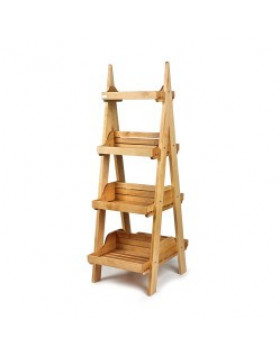 Double Sided 4 Tier Display Stand