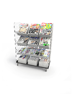 Bartuf Flexible Triple Tower Newspaper Display