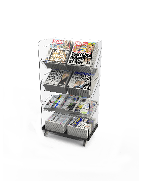 Bartuf Flexible Twin Tower Newspaper Display