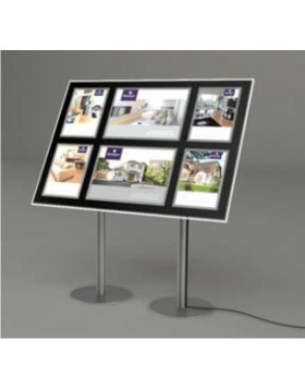 A4 Portrait + A3 Landscape LED Freestanding Display