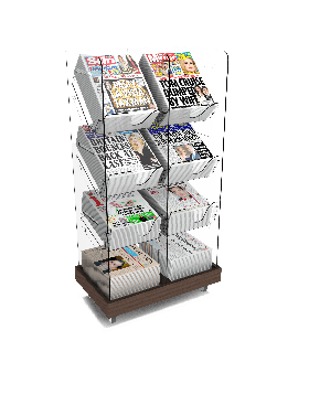 Bartuf Twin Tower Newspaper Display