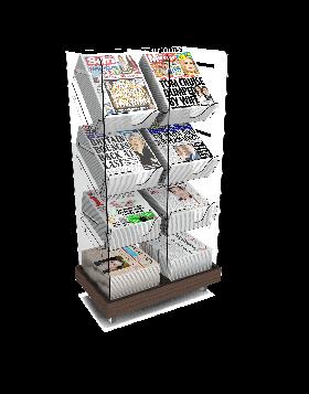 Bartuf Twin Tower Newspaper Display