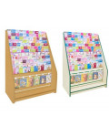 12 Tier Card Rack with Slatwall Drawer