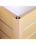 Slatwall 2-Piece Corner Quadrant | Profile