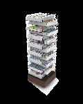 Bartuf Corner Tower 15 Shelves Newspaper Display