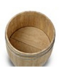 Large Wooden Display Barrel Top