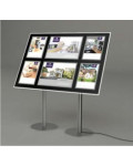 A4 Portrait + A3 Landscape LED Freestanding Display